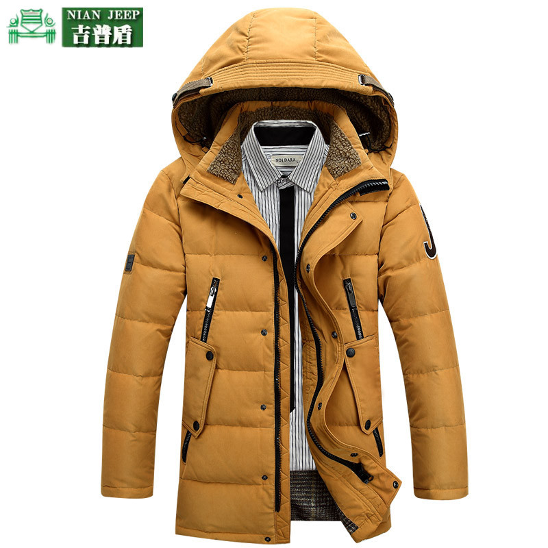 Free shipping outdoor hiking down keep wram NianJeep  shield thickened man male long section AONISI Mens down jacket<br><br>Aliexpress