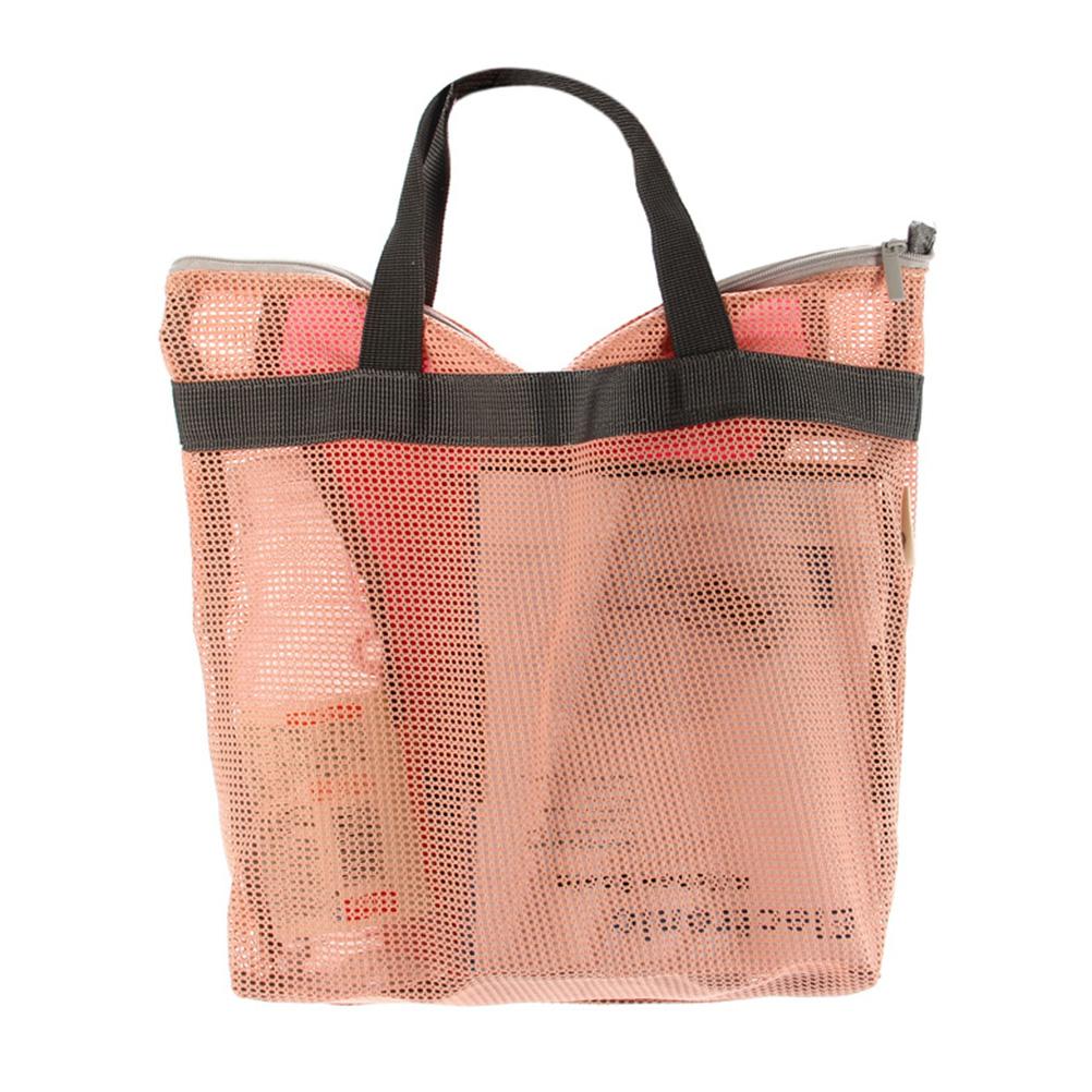 Practical Net Handbag Cosmetic Bath Bag for Travel Shopping Make up Cosmetic Bag Toiletry Bathing Pouch Organizer Holder(China (Mainland))