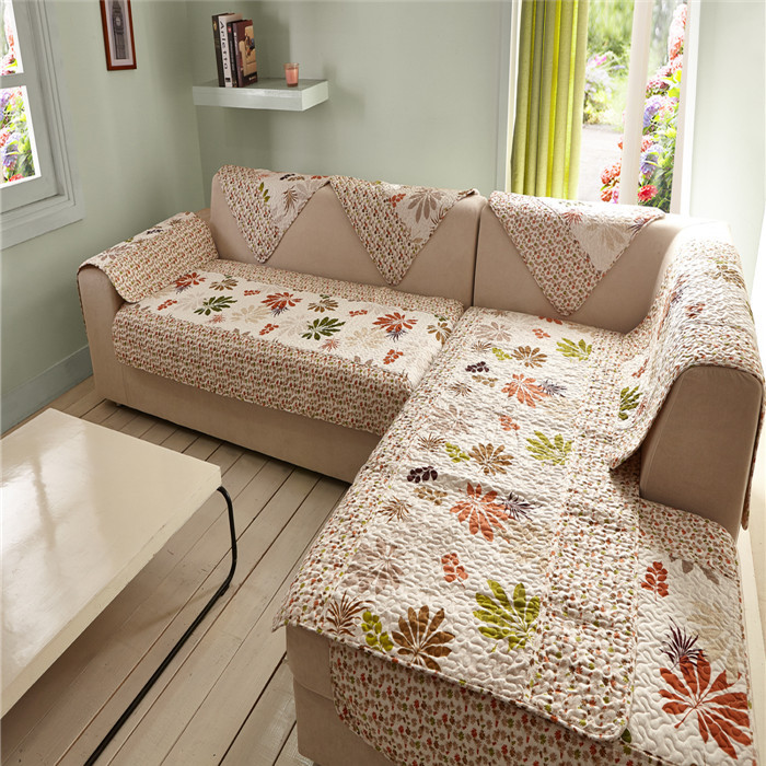 2015 Wholesale Factory Direct Covers for Sofas Chair Furniture Blanket on the Sofa Embroidery Floral Covers for Sofa 100% Fleece(China (Mainland))