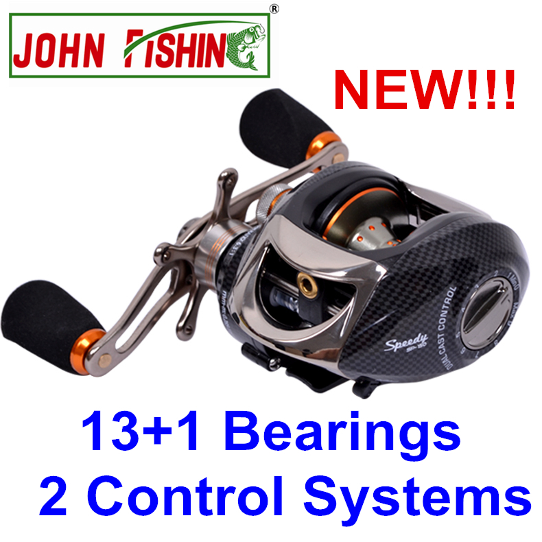 Fishing Reel 13+1 Bearings 2 Control Systems Right Left Hand Bait Casting Reel Centrifugal & Magnetic Fresh Water Anti-backlash(China (Mainland))