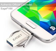 EAGET V90 USB 3.0 100% USB Flash Drives OTG external storage micro USB 2.0 Flash Memory Stick flash card disk on key Gift