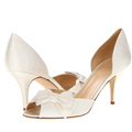 Spring Nightclub Peep Toe Shoes High Heels White Bowtie Wedding Dress Shoes 3 Inches heel shoes