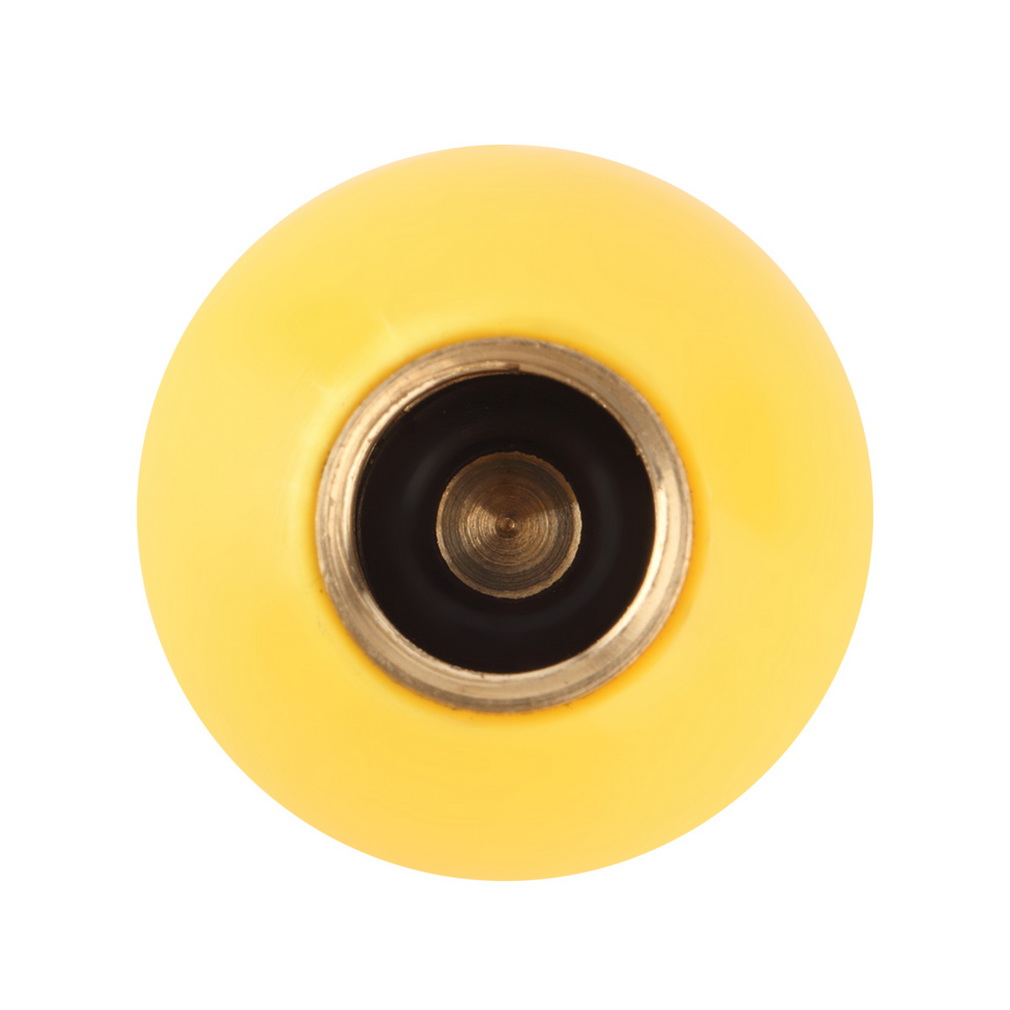 1pc Universal Yellow SMILE FACE Ball Car Tyre Air Valve Caps Bicycle Tire Valve Cap Car