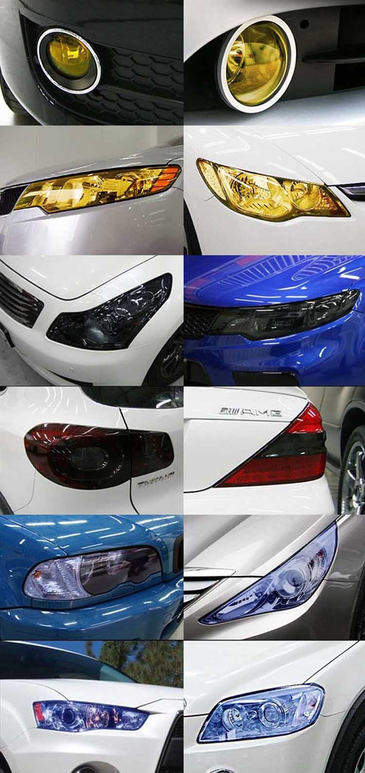 1 Piece New Auto Car Sticker Smoke Fog Light Headlight Taillight Tint Vinyl Film Sheet Car