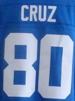 Cheap men's 10 Eli Manning 13 Odell Beckham Jr 80 Victor Cruz 90 Jason Pierre-Paul jersey White blue size M-XXXL(China (Mainland))