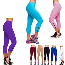Summer Fashion New Candy Color Women Sports Pants neon Running Pants High Waist Cropped Fitness Leggings 10(China (Mainland))