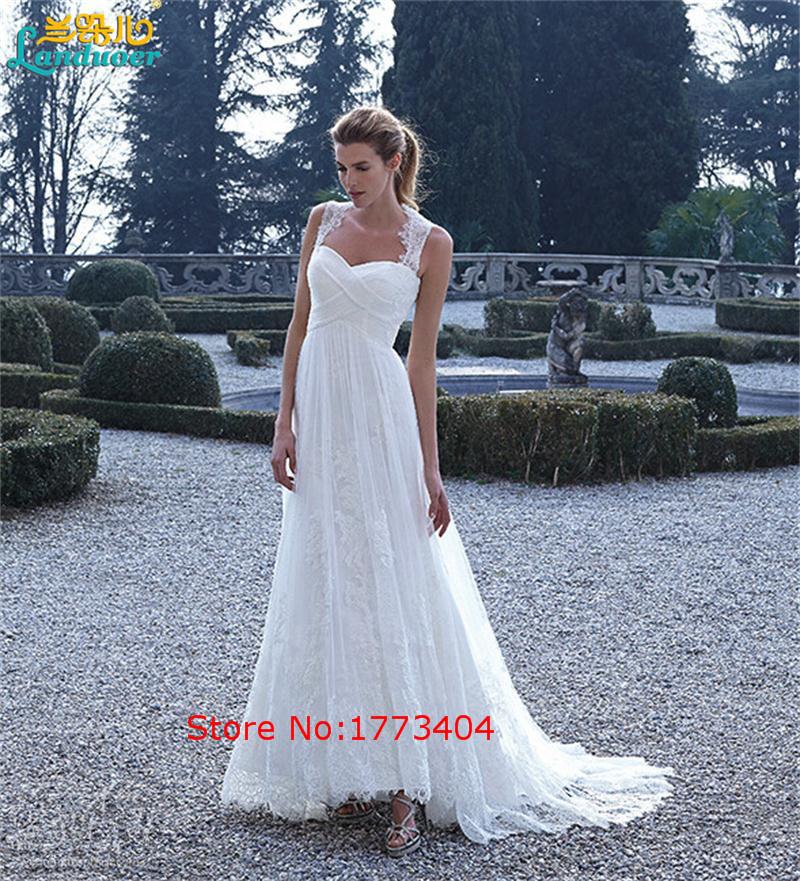 2016 Elegant White Lace Applique A Line Evening Dresses