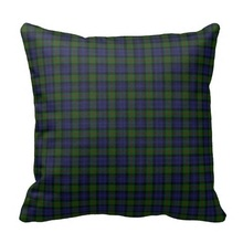Excellent Murray Tartan Plaid Pillow Case (Size: 45x45cm) Free Shipping