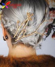 2016 novo Designer de moda de Metal ramos grampos para mulheres de cabelo jóias pinzas de pelo