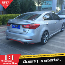 Kia Forte K3 Spoiler ABS Material Car Rear Wing Primer Color WL 2011-2013 - SPEEDS CAR Modification Store store