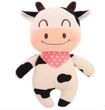 38cm/48cm super cute cow plush toy pillow doll, cattle stuffed animal doll creative wedding gift birthday gift