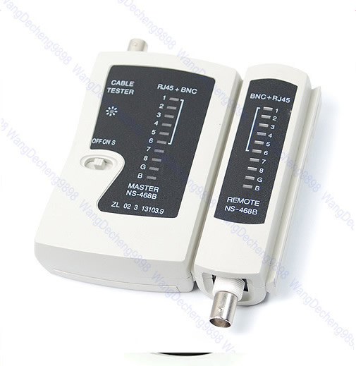 E93+NS-468B LAN Network Cable Wire RJ45 BNC Tester Test New(China (Mainland))