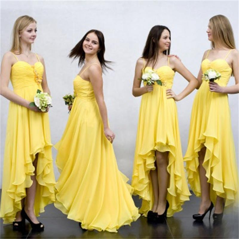 2016 cheap bridesmaid dresses for wedding high low beach for Maid of honor wedding dresses