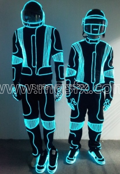 Free shipping LED Costumes / light robot suit / EL Wire / Neon/ luminous clothing / Light suits(China (Mainland))
