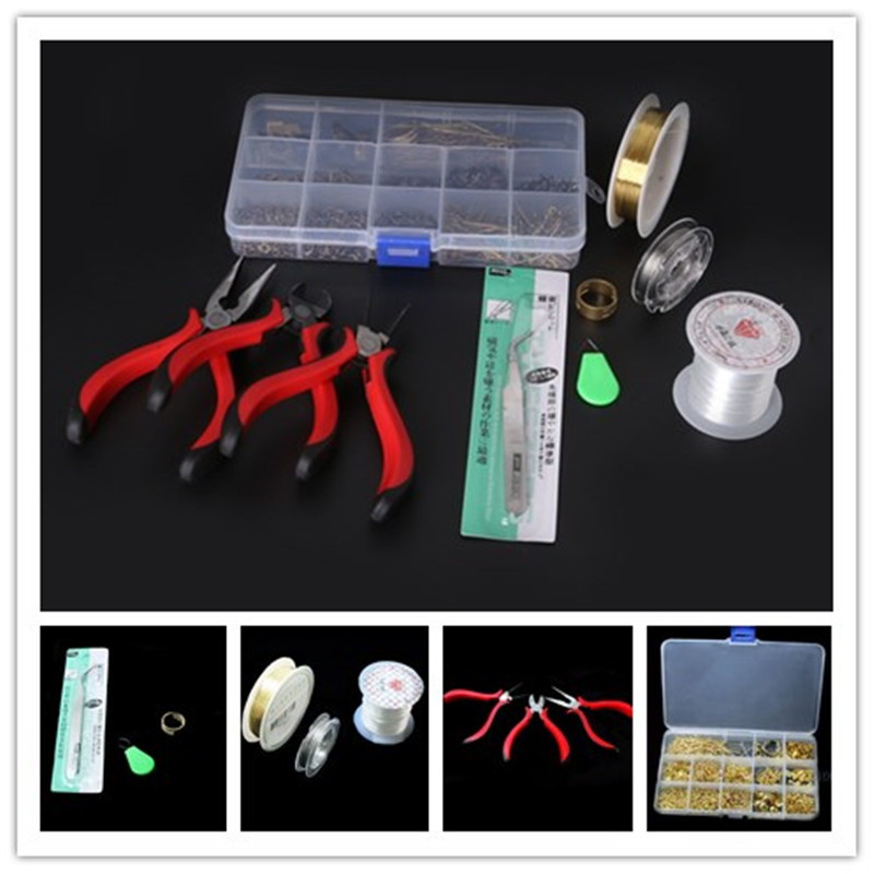 1 SET JEWELRY MAKING KIT, BEADS CAP/FINDINGS/PLIERS Fit Jewelry Accessories DIY ZH-BDH010-69