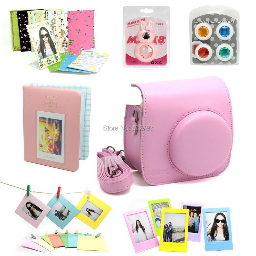 Pink-- Fujifilm Instax Mini 8 Instant Camera Accessory Bundles Set - Fashion gift accessories store