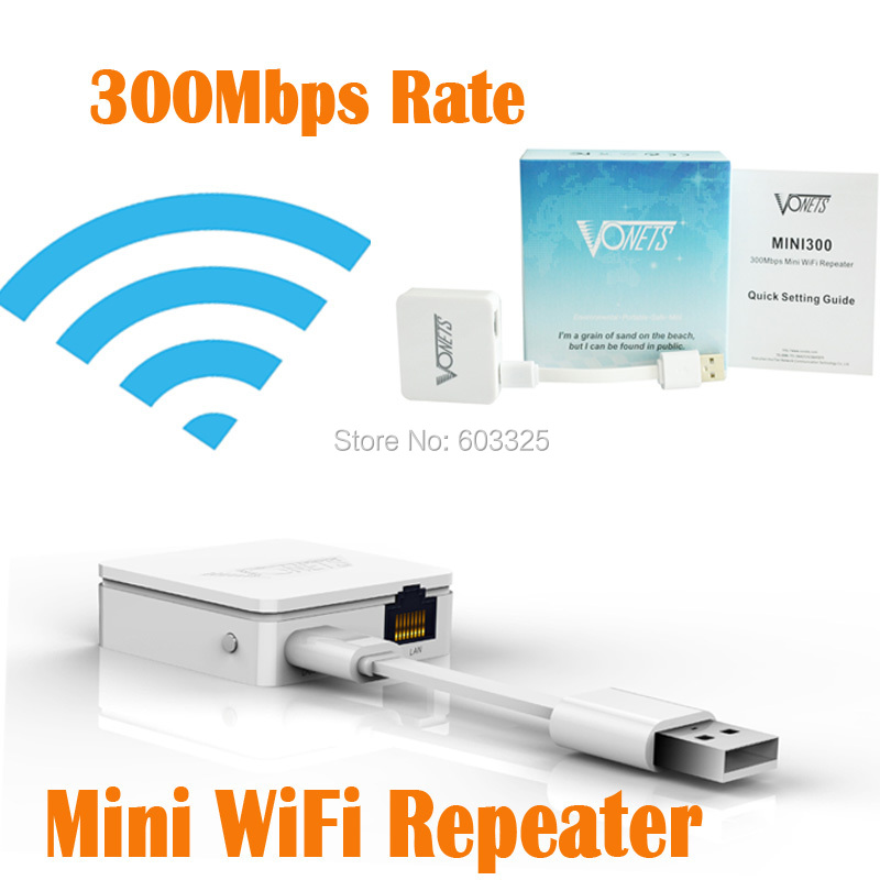 Vonets Wireless Mini Wifi Repeater 802.11B/G Network Expander 300Mbps Wi fi Amplifier Repetidor Wifi Bridge Signal Booster(China (Mainland))