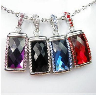 Crystal necklace diamond jewel USB Flash 2.0 Memory Drive Stick Pen/Thumb/Car 4-64GB S107(China (Mainland))