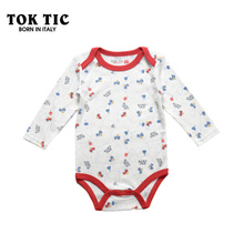 High quality 3-18M Long Sleeve fashion Infant Romper baby boy girl jumpsuit Baby clothing baby unisex bodysuit TOKTIC