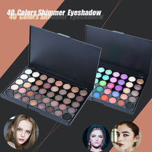 40 Color Eyeshadow Pearl Shimmer Studio Eye Shadow Compact Palettes Earth Warm Luminous Sets Makeup Palette Eye Shadow Cosmetic(China (Mainland))