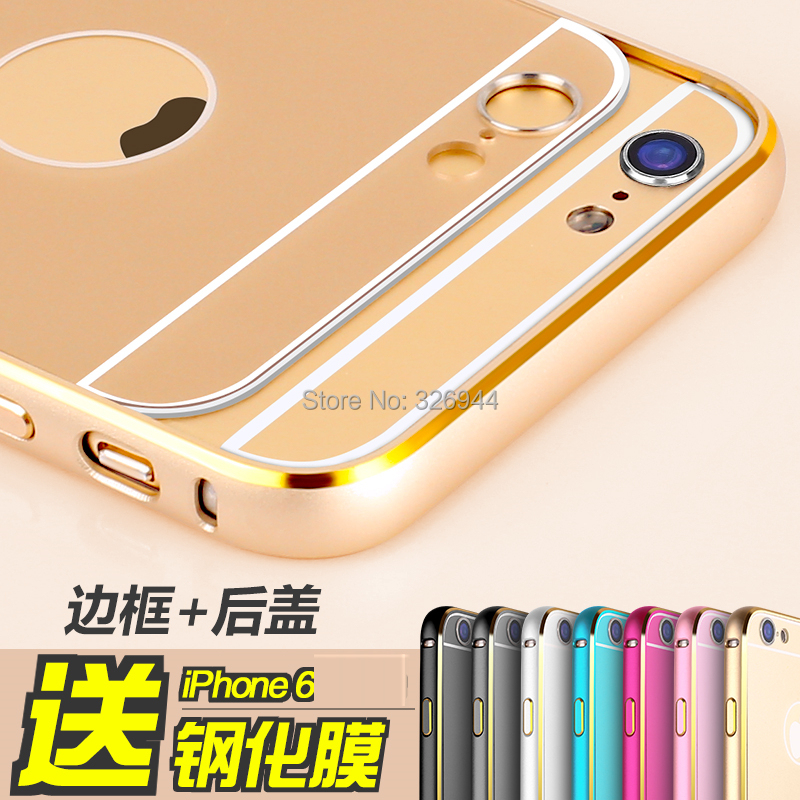 Hot iPhone6 metal frame casing 4.7-inch aluminum protector new iPhone 6 rear cover shell / Mobile phone shell(China (Mainland))