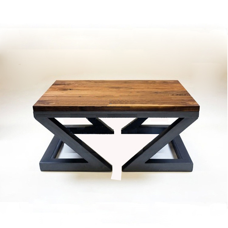 American Country To Do The Old Wrought Iron Wood Coffee Table Living Room Wood Furniture