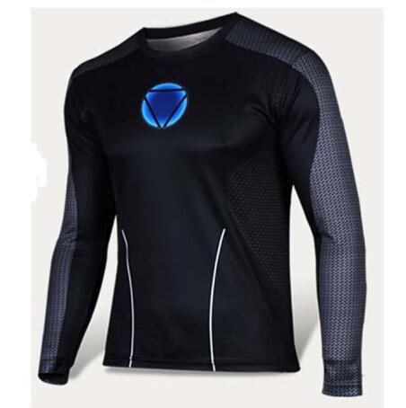 2016 new fashion men long-sleeved shirt superman captain America gym fitness t shirt for men/women funny 3d TShirt casual top(China (Mainland))