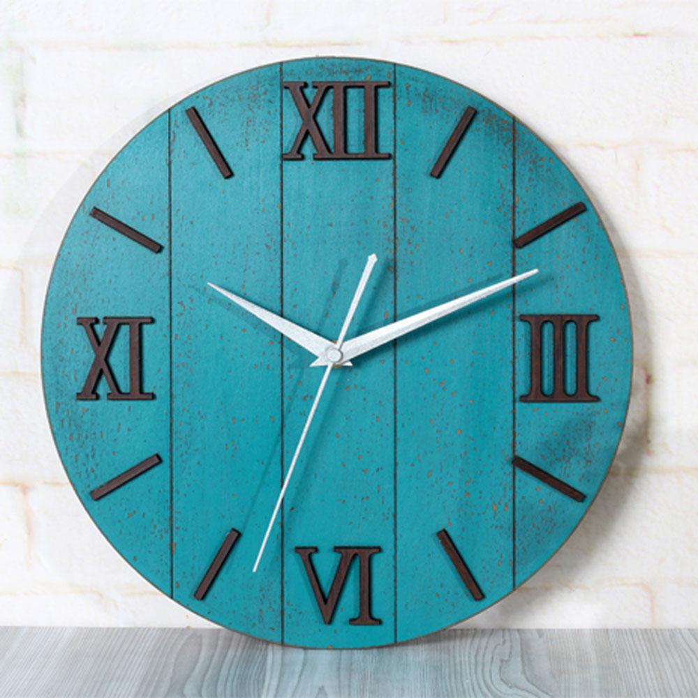 3D Antique European Mediterranean Wall Clok Roman Numeral Round modern Design Wall Clock Silent Non-tickingWall Clock(China (Mainland))