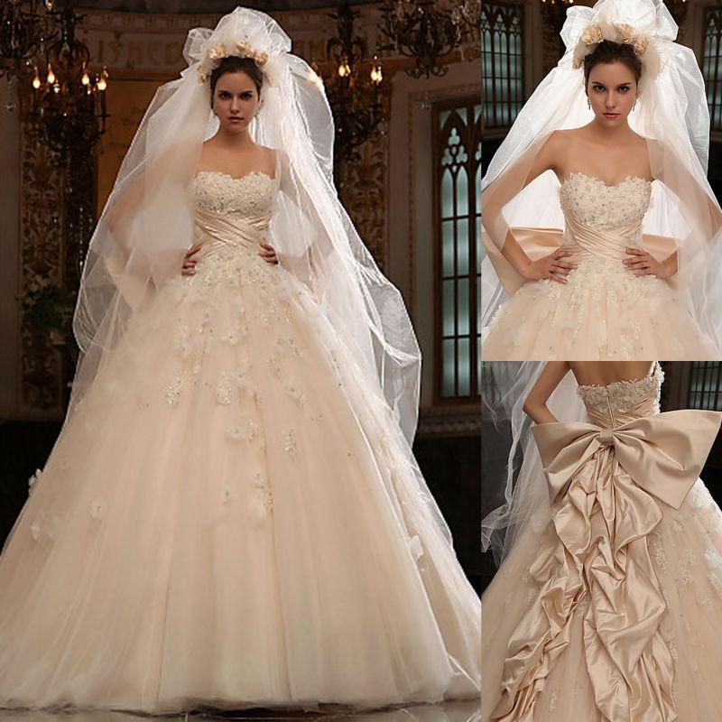 Popular super long train wedding dresses buy cheap super for Super cheap wedding dresses