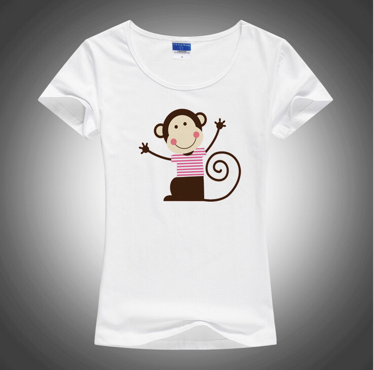 Bgtomato lovely capuchins monkey t shirt women popular for Successful t shirt brands