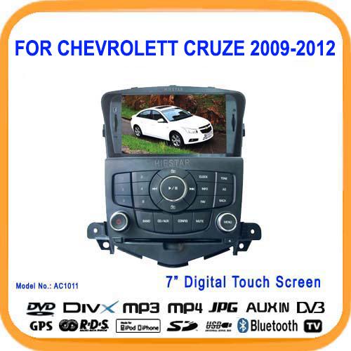 Car GPS DVD Radio player For Chevrolet Cruze 2009 11 12 Steering wheel Control Touch Screen USB TF Bluetooth GPS Navigation(Hong Kong)