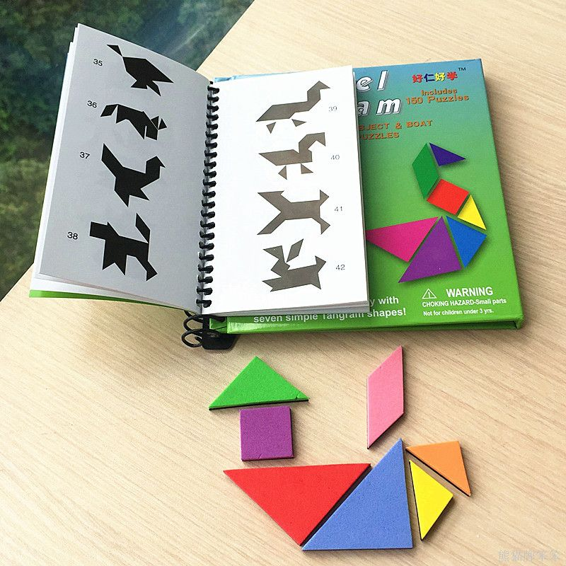 150/240 Puzzles Magnetic Travel Tangram A Educational Kids Toys Challenge Iq A Magic Book For 3-100 Years A Good Gift For Family(China (Mainland))