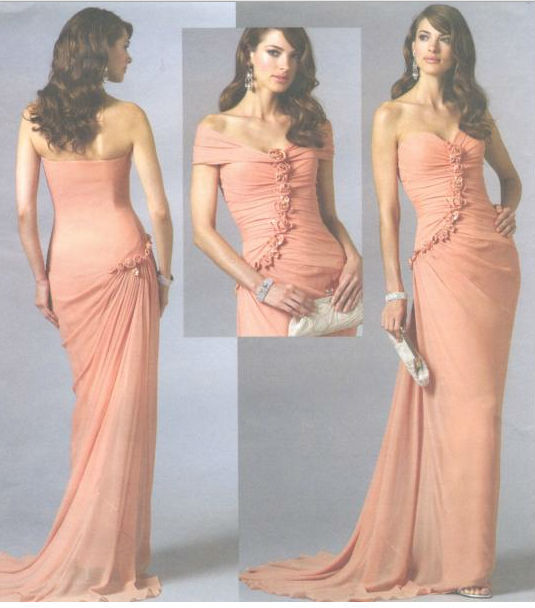 Designer Dress Patterns For Sewing Misses Evening Dress