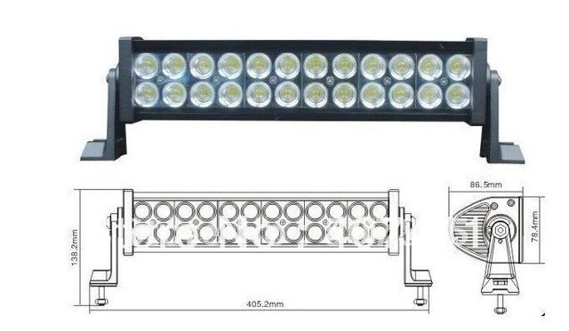 30% OFF New Reflective Cup Design 24pieces 3W LED=72W LED Bar Lights LED work Light For CAR SUV Jeep Special Car or truck USE
