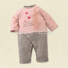 New casual brand winter baby boy girl rompers cute newborn jumpsuit Europe rabbit elephant thicken warm