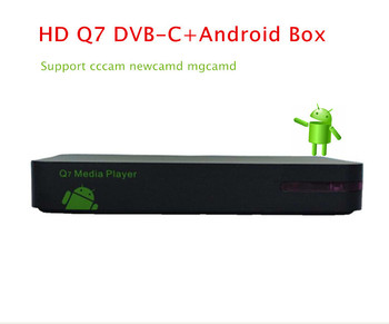 Android+DVB-C box for UK/NL Q7 media player support wifi 802.11b/g/n with 1GRAM + 8GRom upgrade of Q5