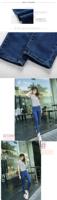 винтажные дамы весной 2015 тонкие ноги штаны карандаш девять завышенной талией двубортный обтягивающие джинсы девочка