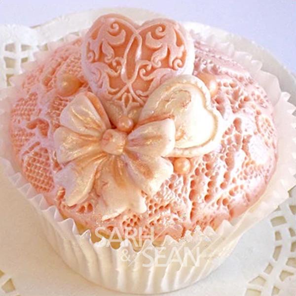 M0816 Fabric flowers lace line fondant cake mold chocolate mold for the kitchen baking Silicone Sugar Decoration Cake Tool(China (Mainland))