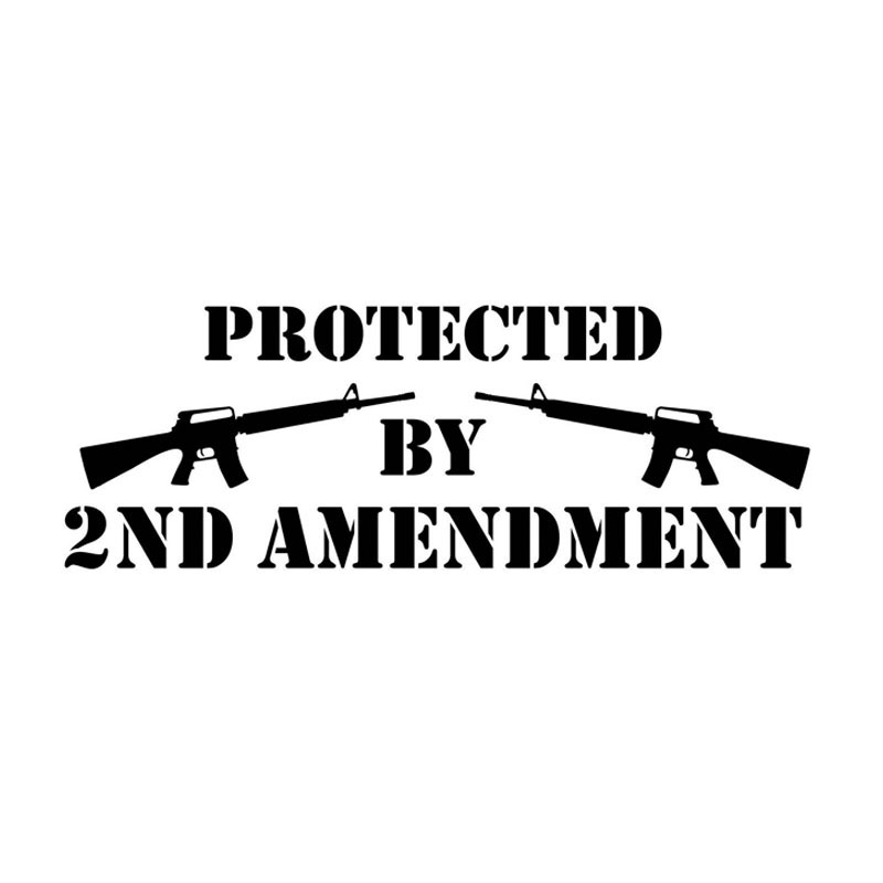 21.5*7.5CM PROTECTED BY 2ND AMENDMENT Fun Car Sticker Decals Motorcycle Decoration Car Styling N8057(China (Mainland))
