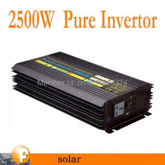 DHL FedEx UPS Free Shipping 2500w Pure sine wave inverter /inversor power invertor(BTP-2500W)(China (Mainland))