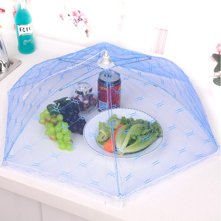 Food Covers Umbrella Style Anti Fly Mosquito Kitchen cooking Tools meal cover Hexagon gauze table mesh food cover(China (Mainland))