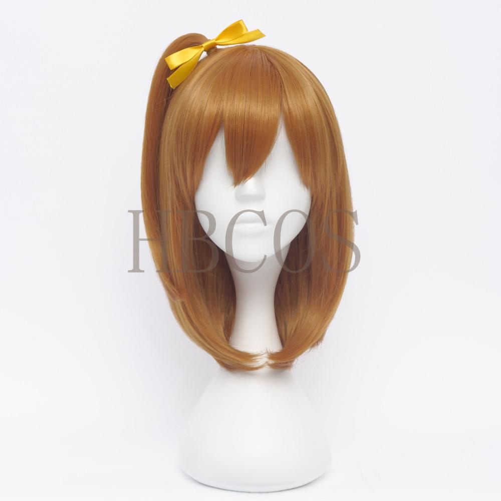 Love Live Kousaka Honoka Orange Modeling style Cosplay Wig Anime Costume Hair Heat resistance fibre wigs(China (Mainland))
