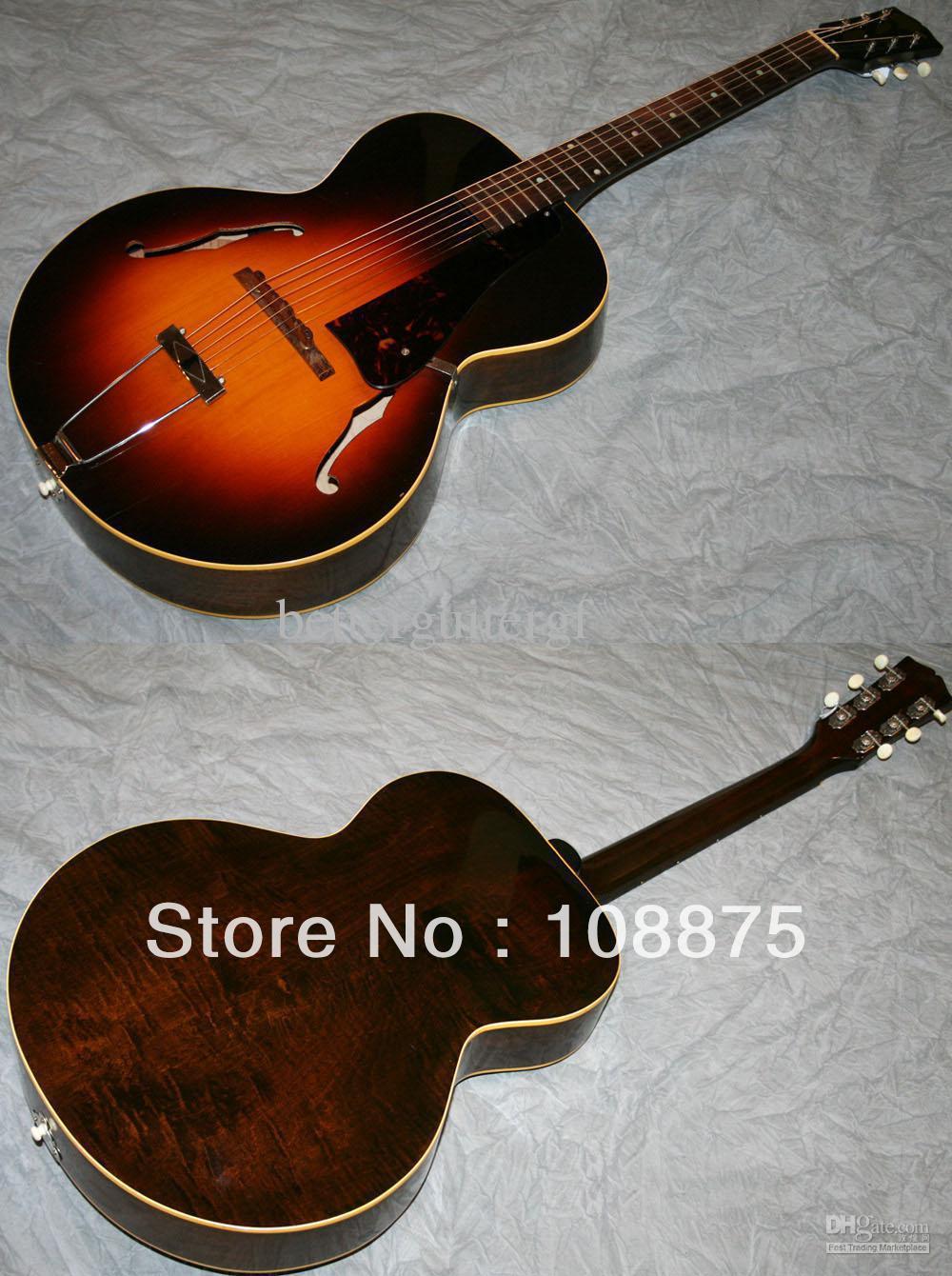 La alta calidad tienda Custom guitarra eléctrica guitarra instrumentos musicales de la guitarra acústica Archtop ( # gat0158 ) 100% excelente Quality100 %(China (Mainland))