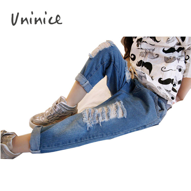 free shipping children pants NEW 2015 spring autumn fashion distrressed light designer jeans boys&girls denim pant suit 2~7 age(China (Mainland))