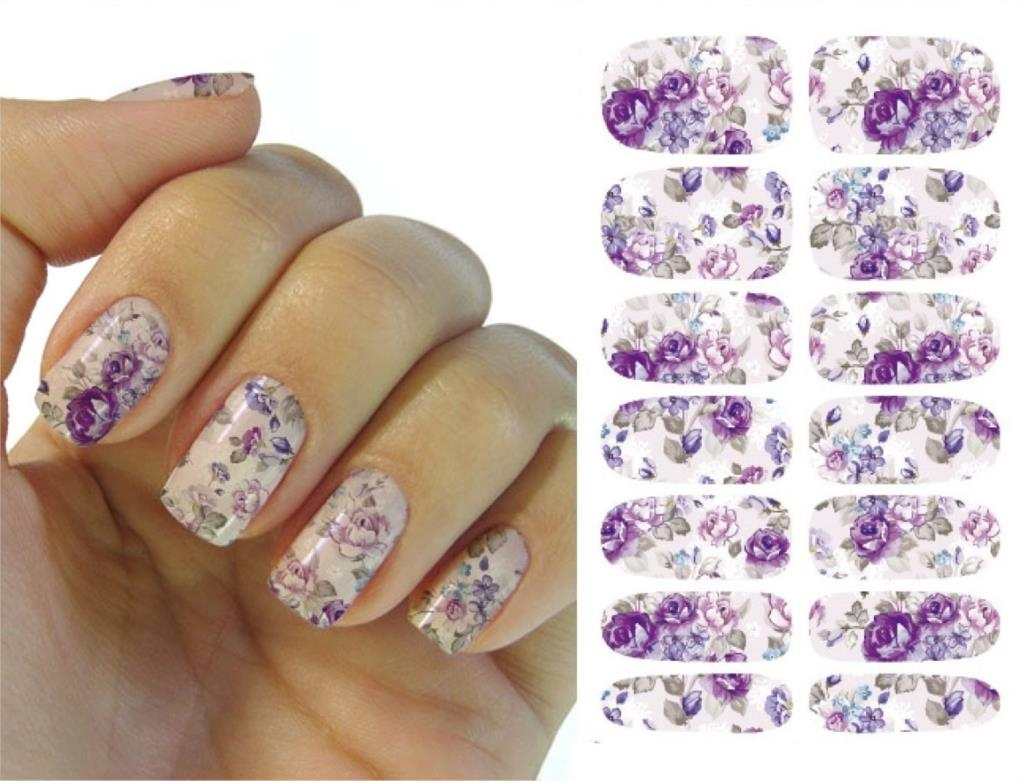 Nails Art Flower Mystery Galaxies Design Stickers For Nails Manicure ...