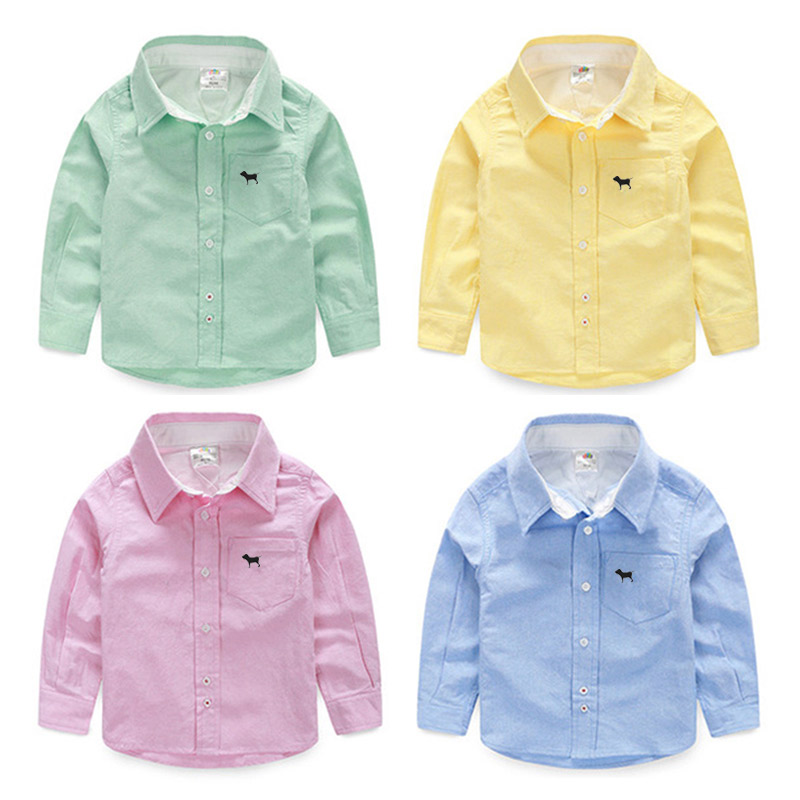Baby solid color shirt male 2016 spring male children s child font b clothing b font