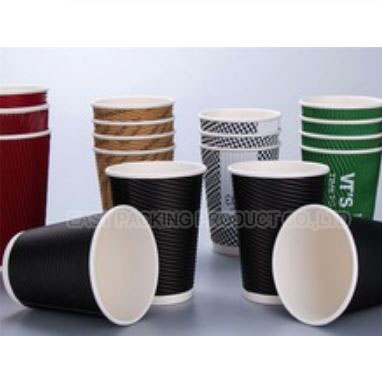 custom logo printed ripple wall coffee paper cup design own flexo customized printed disposable ripple wall coffee paper cups(China (Mainland))