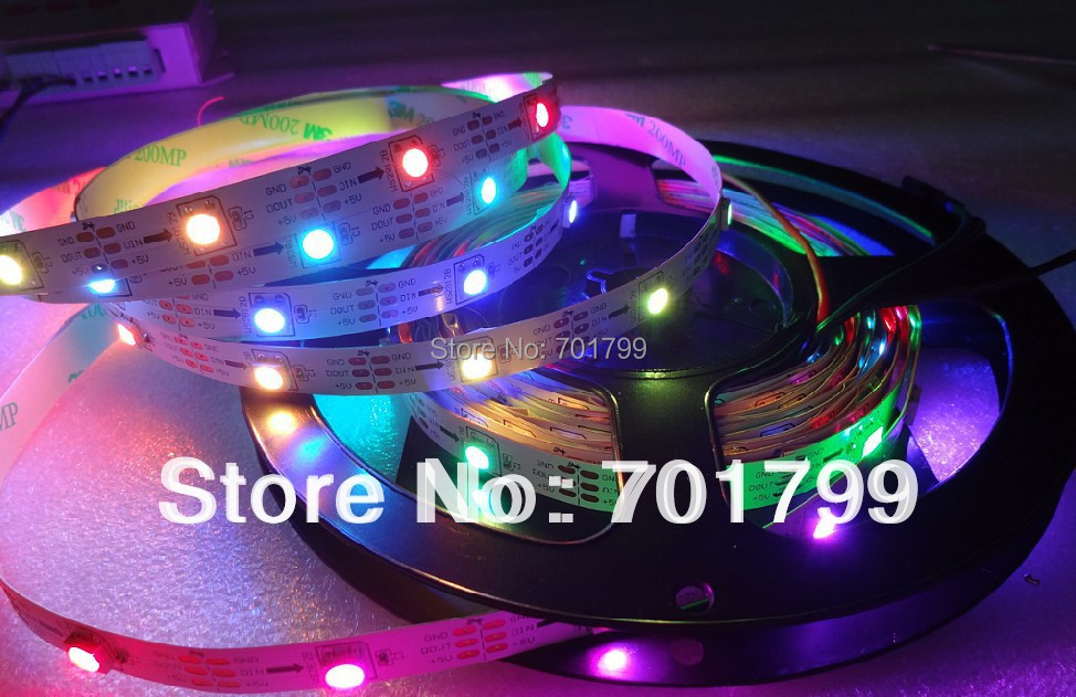 5m DC5V WS2812B led pixel srip,non-waterproof,30pcs WS2812B/M with 30pixels;36W;white pcb;4pin