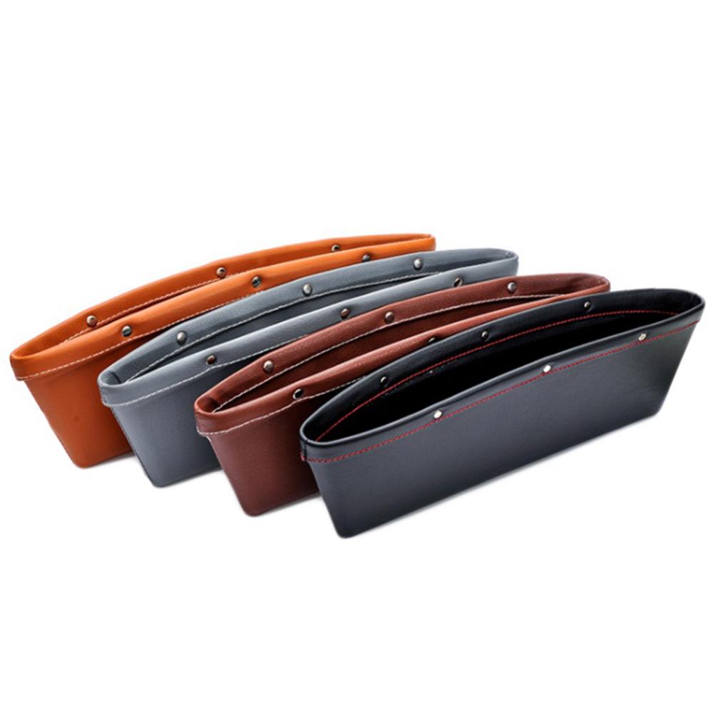 2pcs Creative Car Storage Box Leather Auto Car Seat Gap Pocket Catcher Organizer Leak-Proof Storage Box Auto Bag Container(China (Mainland))