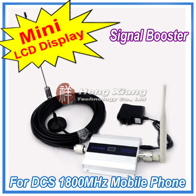 LCD Display  Mini DCS 1800Mhz Mobile Phone Signal Booster DCS Signal Repeater Cell Phone Amplifier